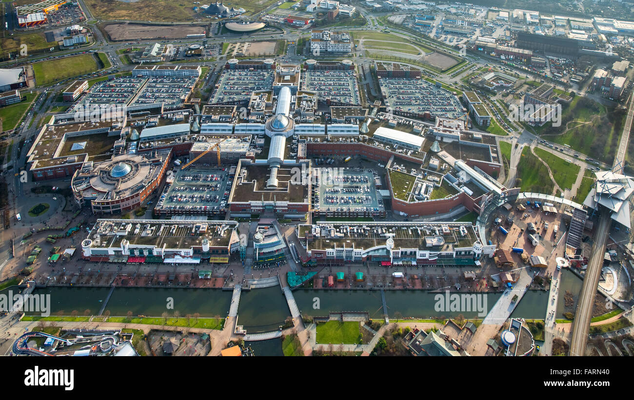 044312aa3338 Aerial view, shopping mall CentrO Oberhausen, shopping mall, largest ...