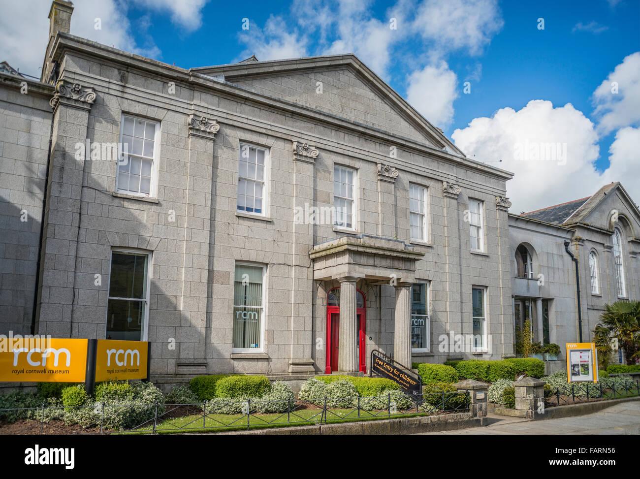 Royal Cornwall Museum, Truro, Cornwall, England, UK - Stock Image