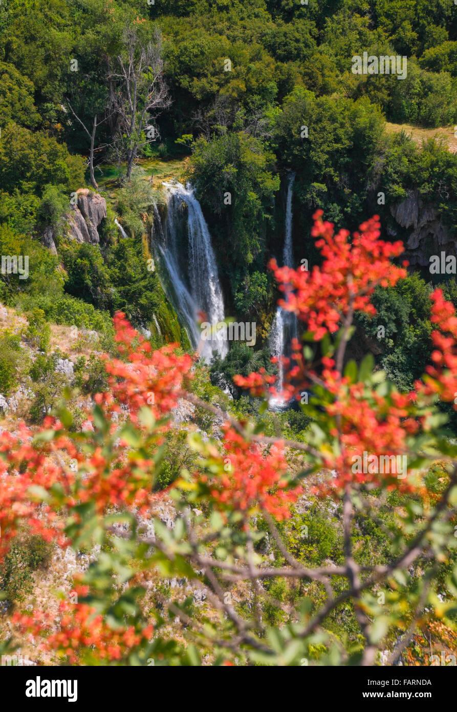 Krka national Park, waterfall Manojlovac. - Stock Image