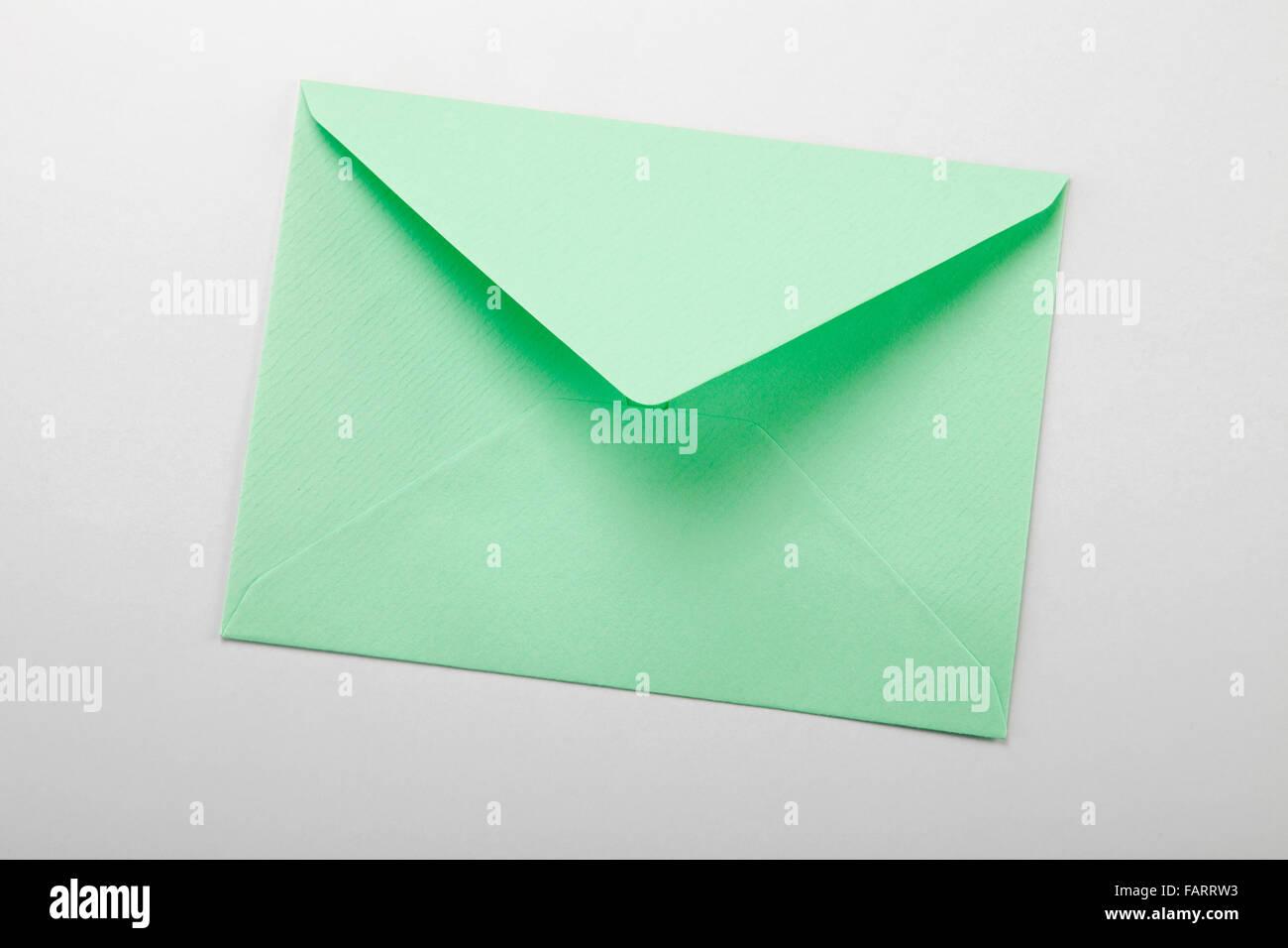 envelope over plain background - Stock Image