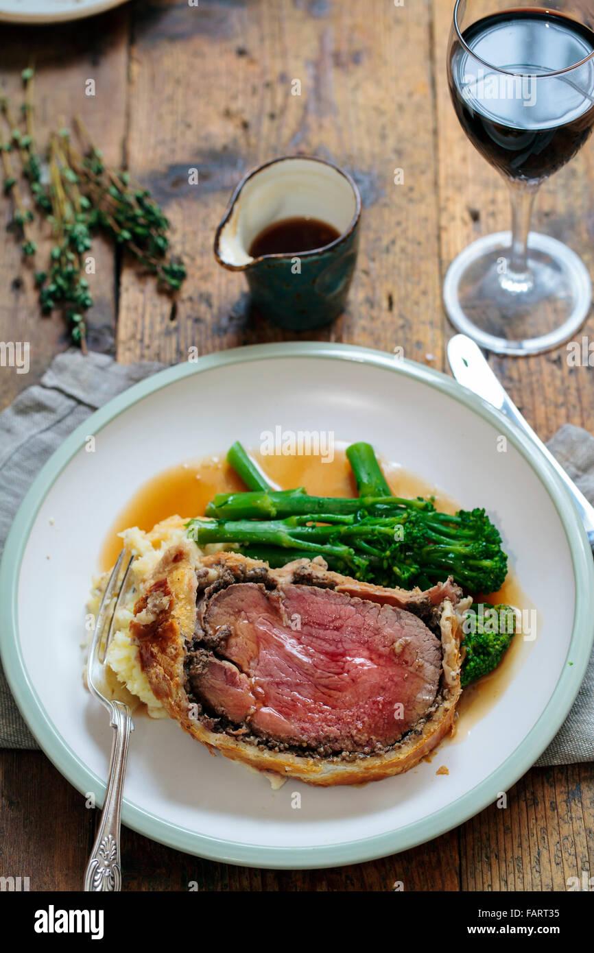 Beef wellington - Stock Image