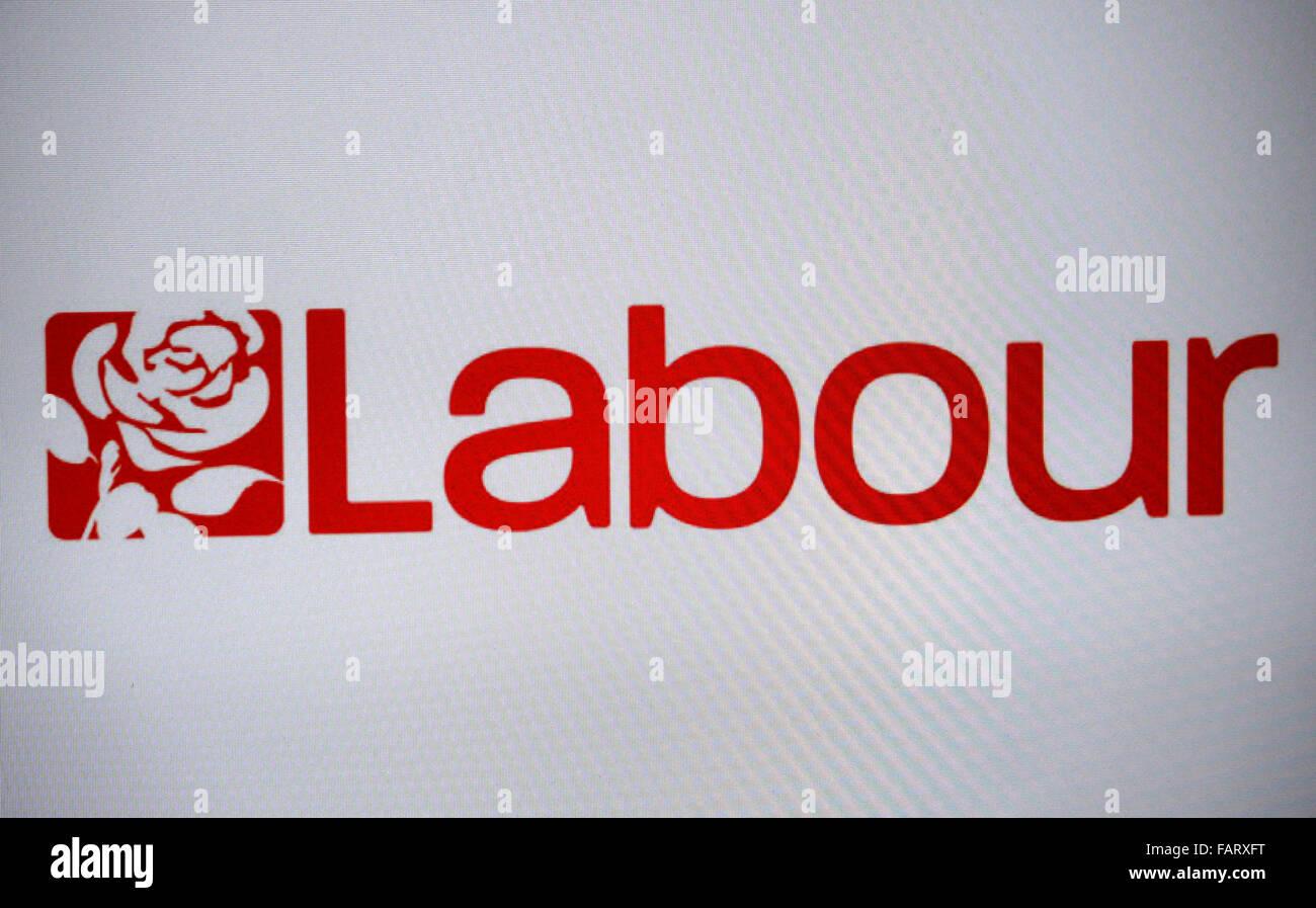 das Logo der britischen Partei 'Labour Party', Berlin. - Stock Image