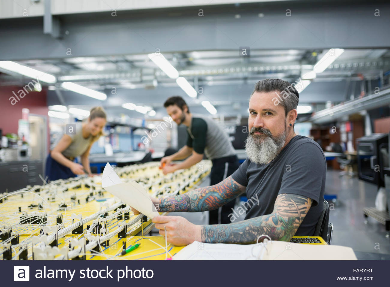 portrait confident helicopter technician at wiring harness stock rh alamy com
