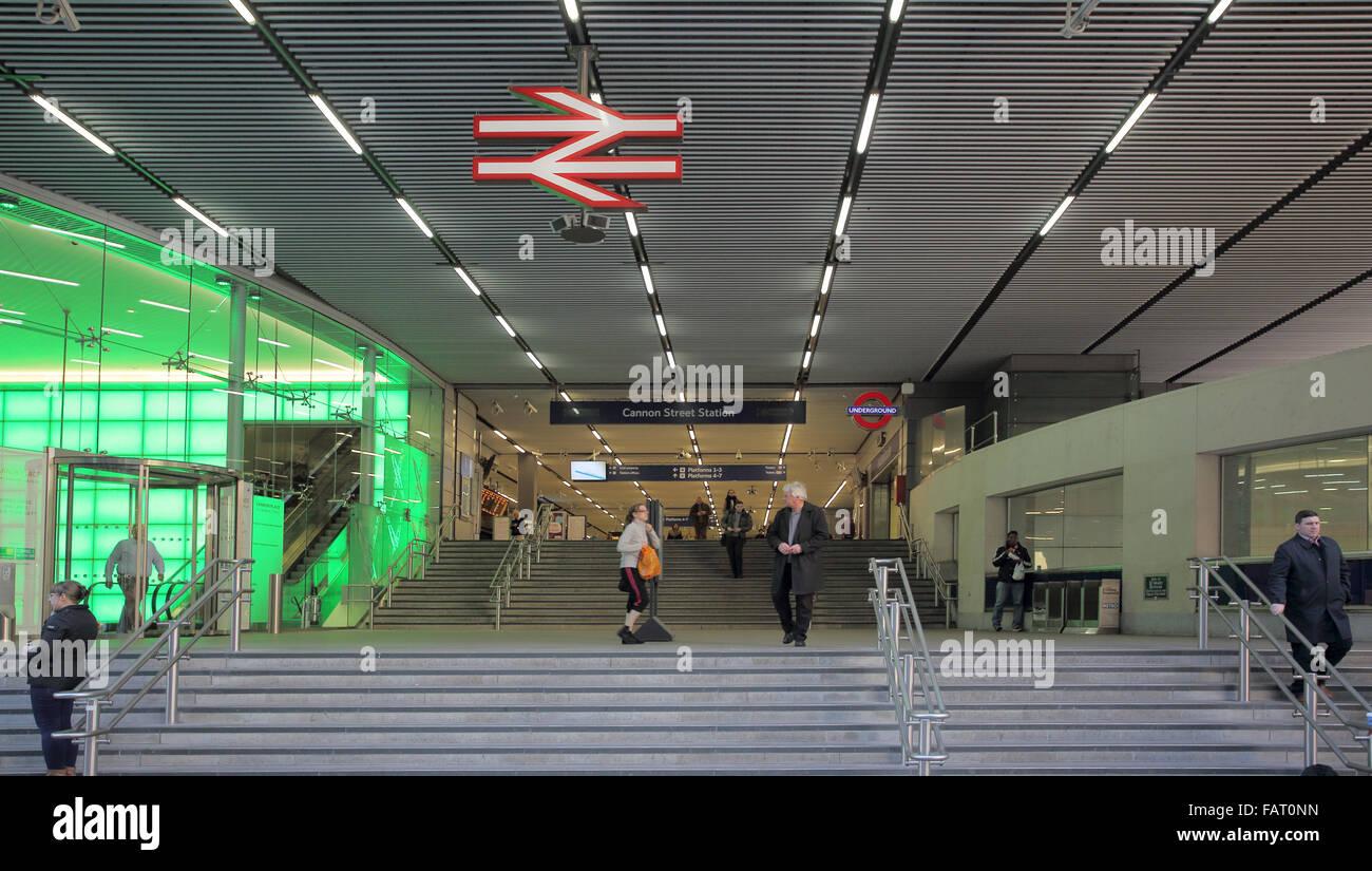 cannon street railway station London - Stock Image