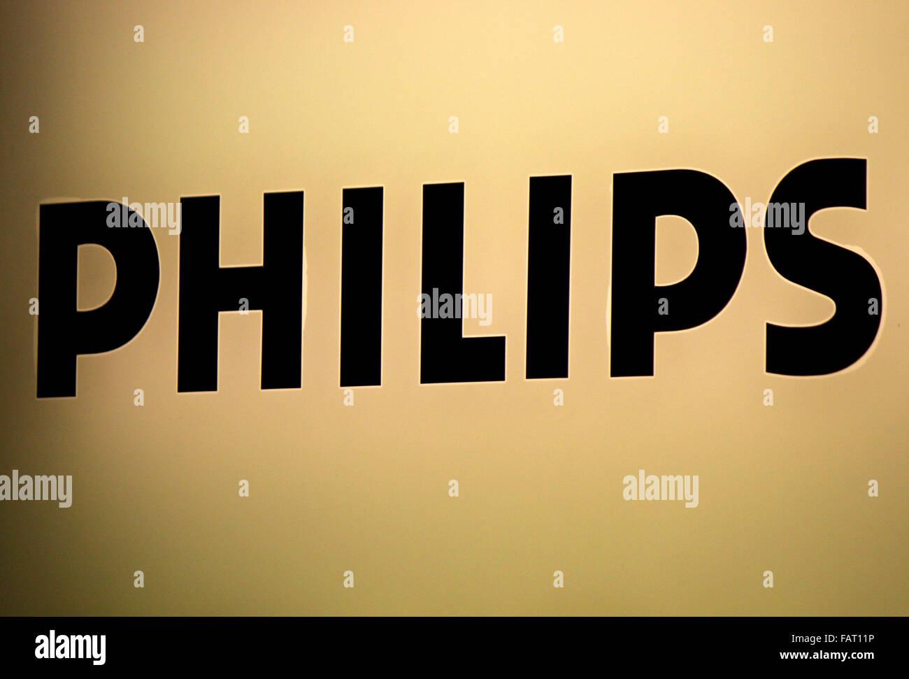 Markenname: 'Philips', Berlin. - Stock Image