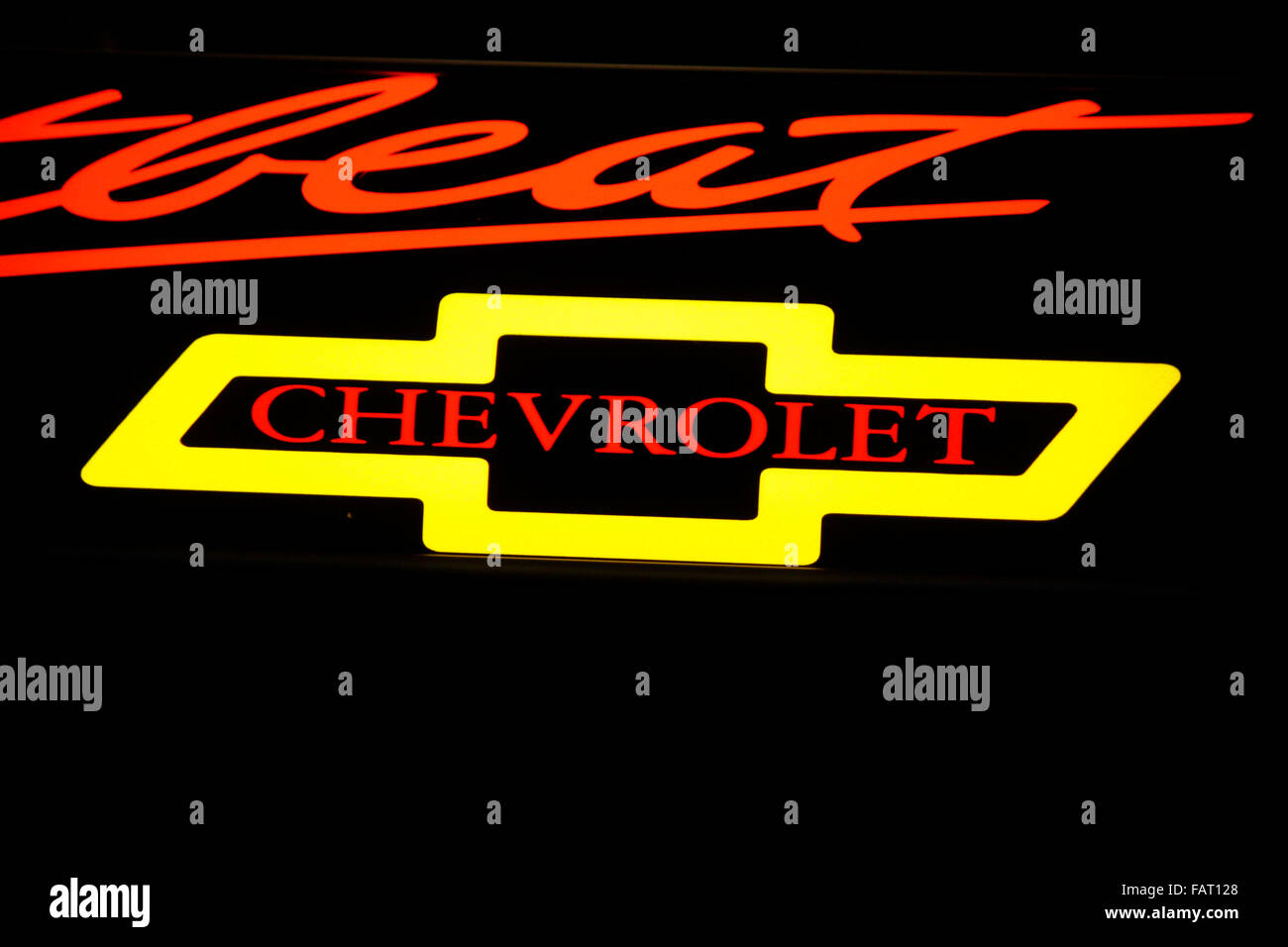 Markenname: 'Chevrolet', Berlin . - Stock Image