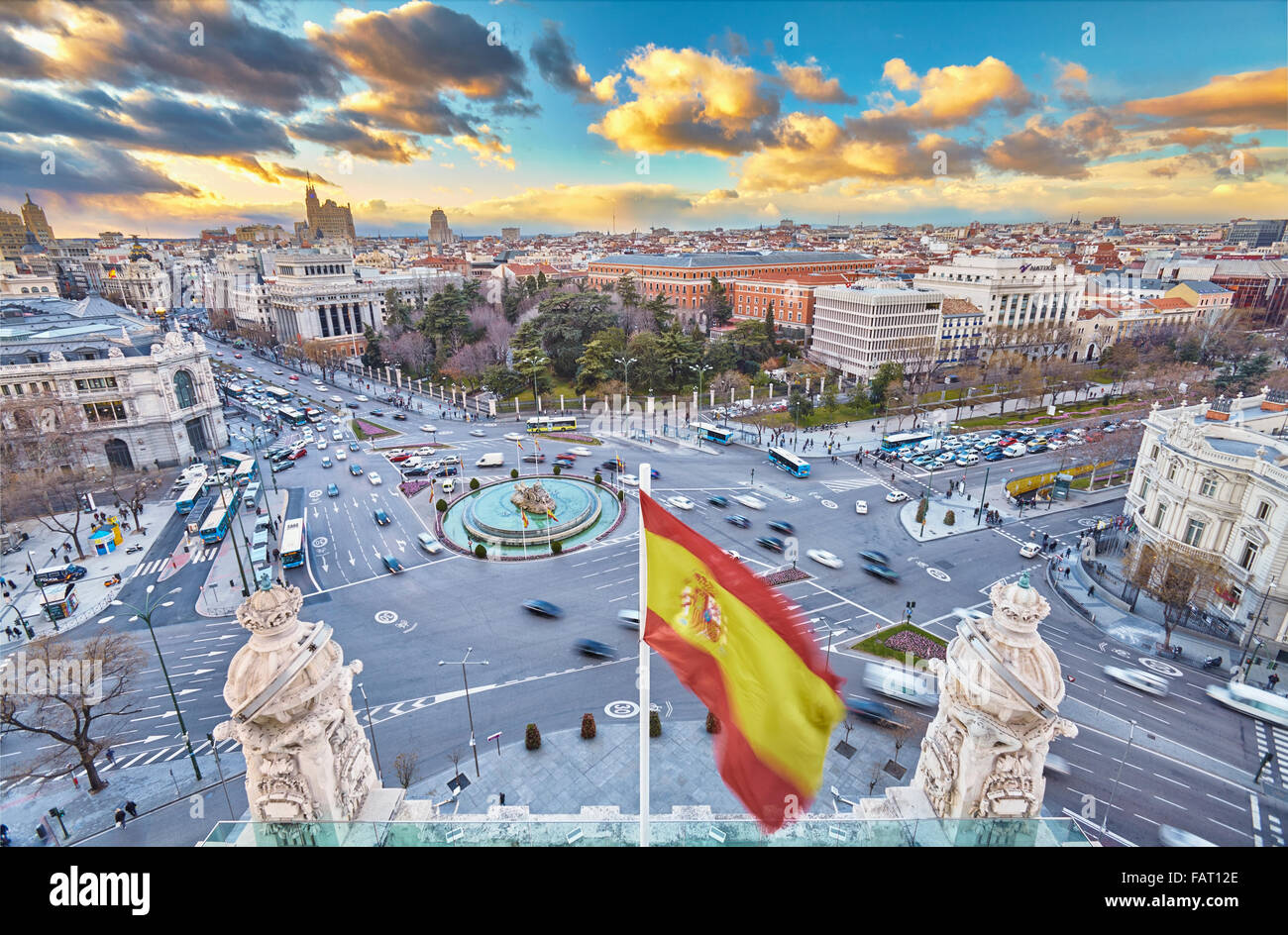 Madrid Skyline From The Cibeles Palace Rooftop Madrid