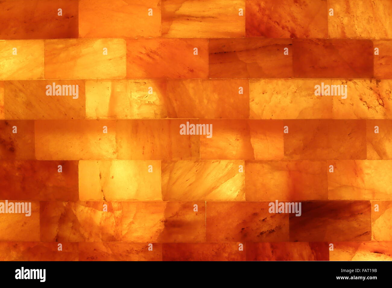 Salt stone wall in a Salt Cave Salarium - Stock Image