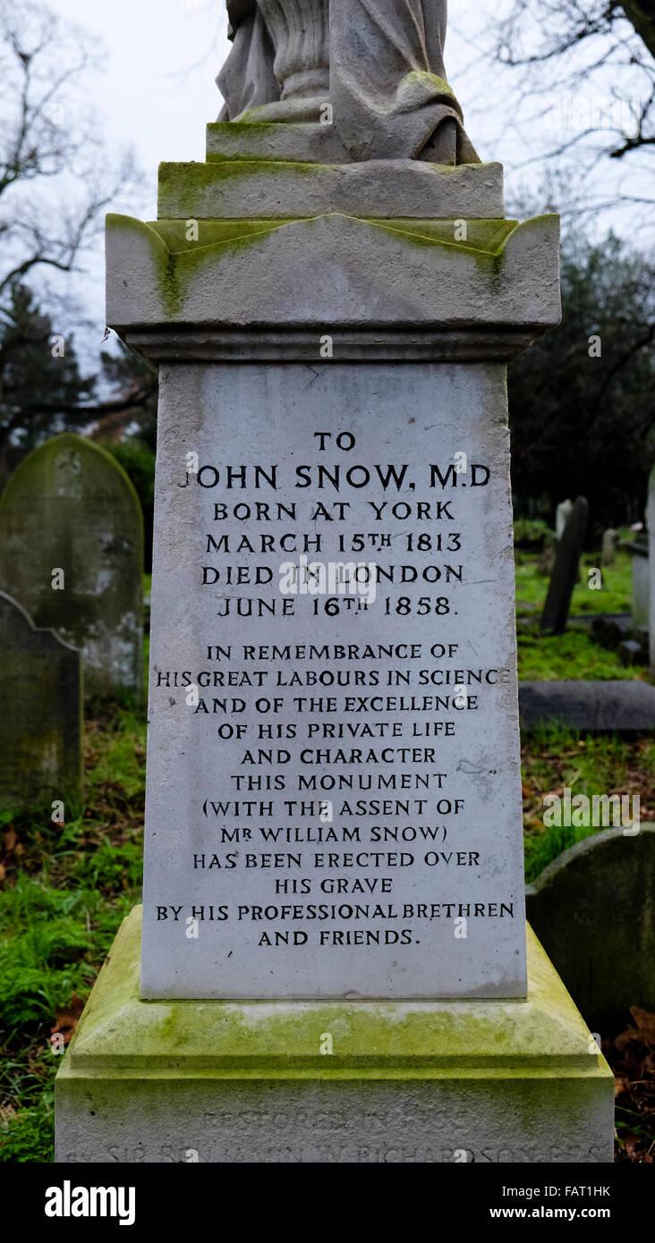John Snow's Grave - Stock Image