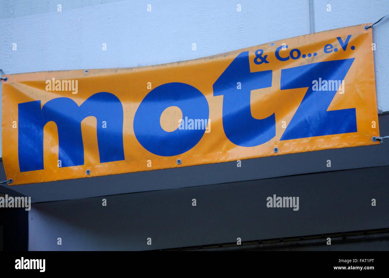 Markenname: 'Motz', Berlin. - Stock Image