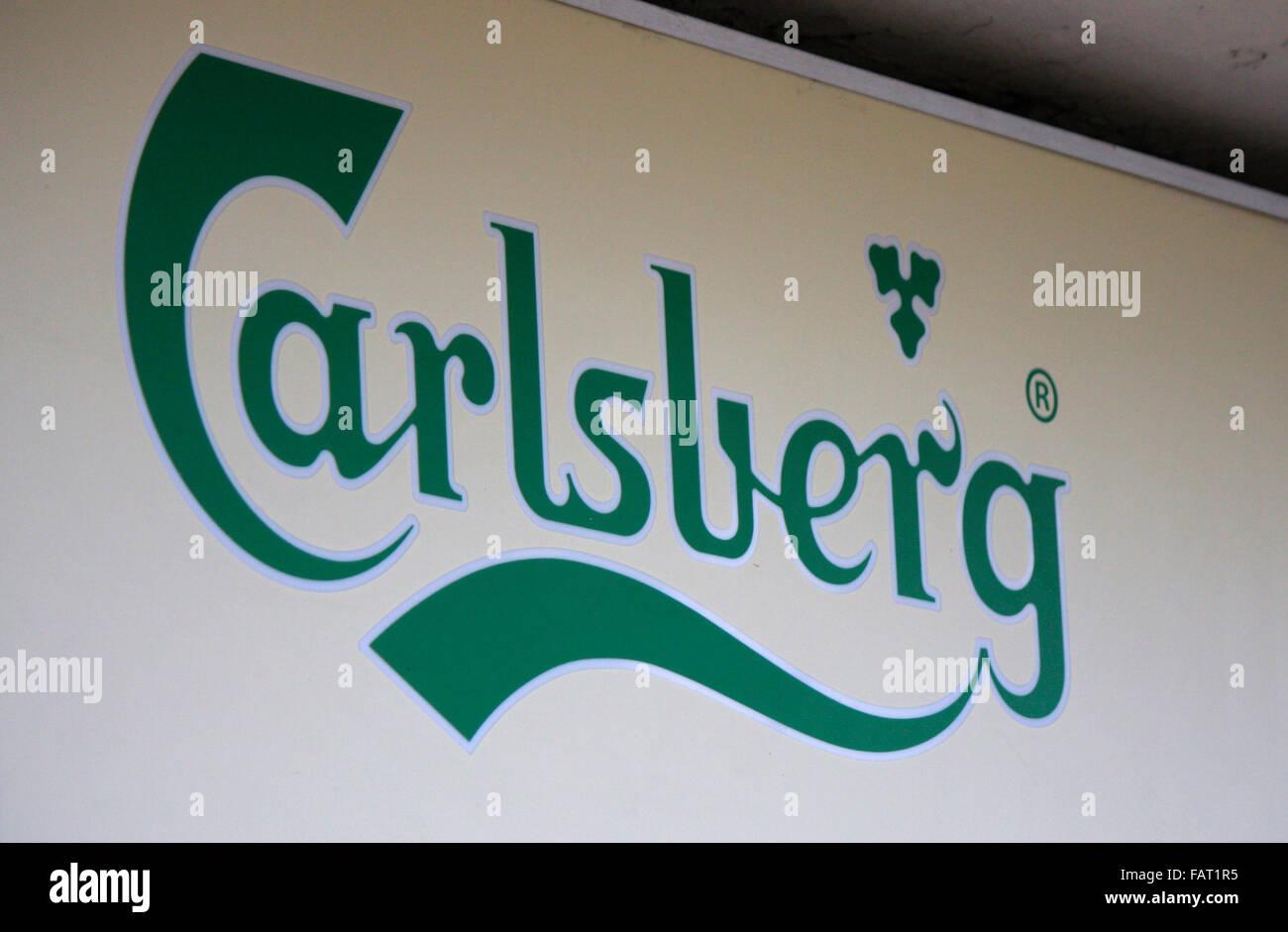 Markenname: 'Carlsberg', Berlin. - Stock Image