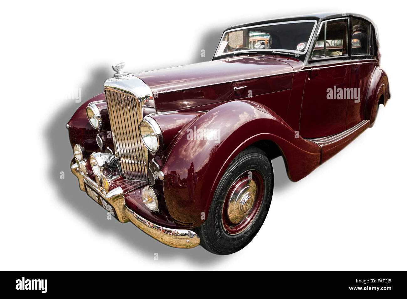 Billericay, Essex, UK - July 2013: Summerfest classic cars show, showed an elegant Bentley vintage model. - Stock Image