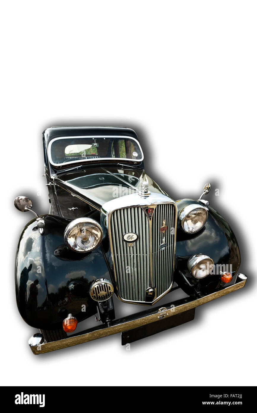 Billericay, Essex, UK - July 2013: Summer fest classic cars show, showed beautiful 1938 Model Rover 14 Saloon. - Stock Image