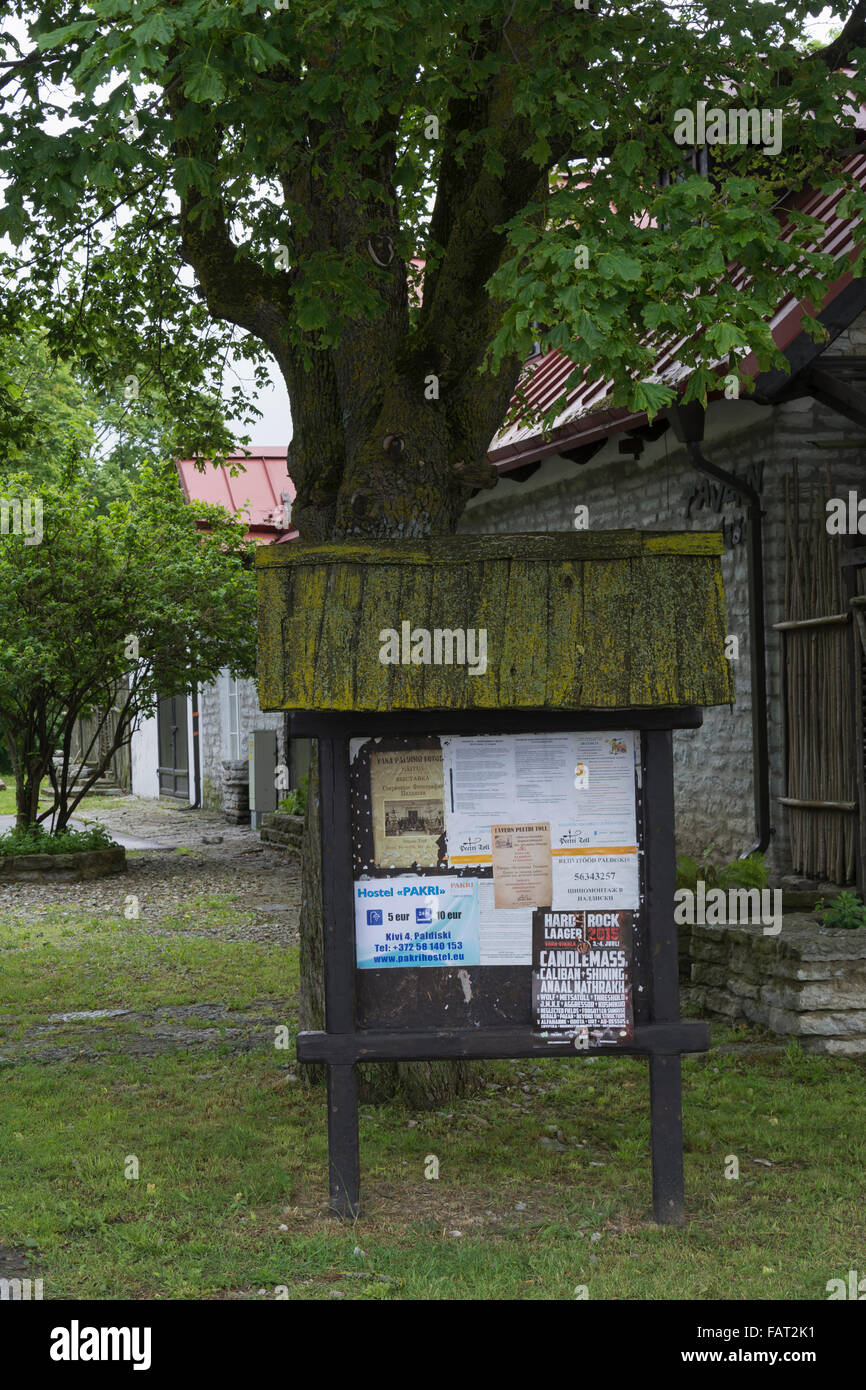 Info Board in Paldiski Estonia - Stock Image
