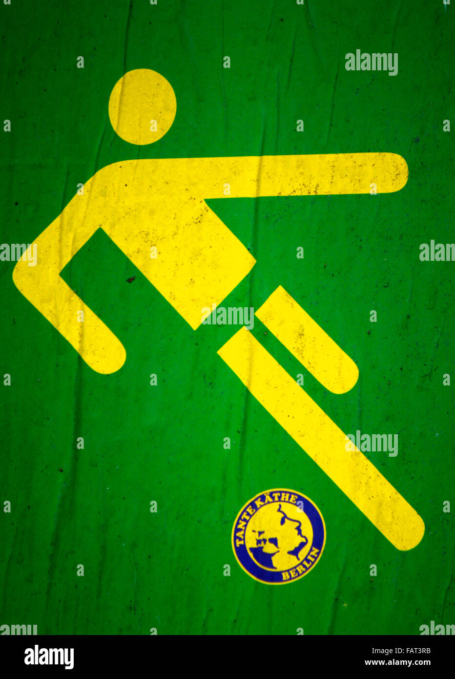 "Fussball Logo ""Tante Kaethe"", Berlin. Stock Photo"