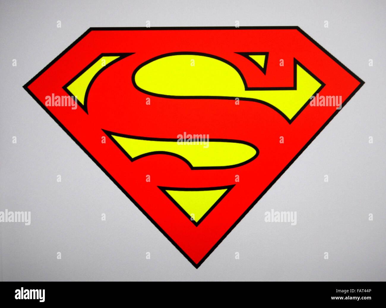 Superman Logo Stock Photos Superman Logo Stock Images Alamy