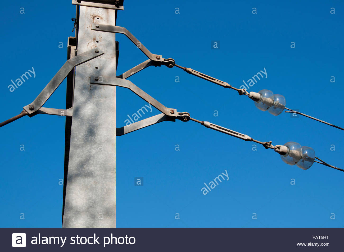 Electric post, Barcelona, Ciutat Vella, Spain - Stock Image
