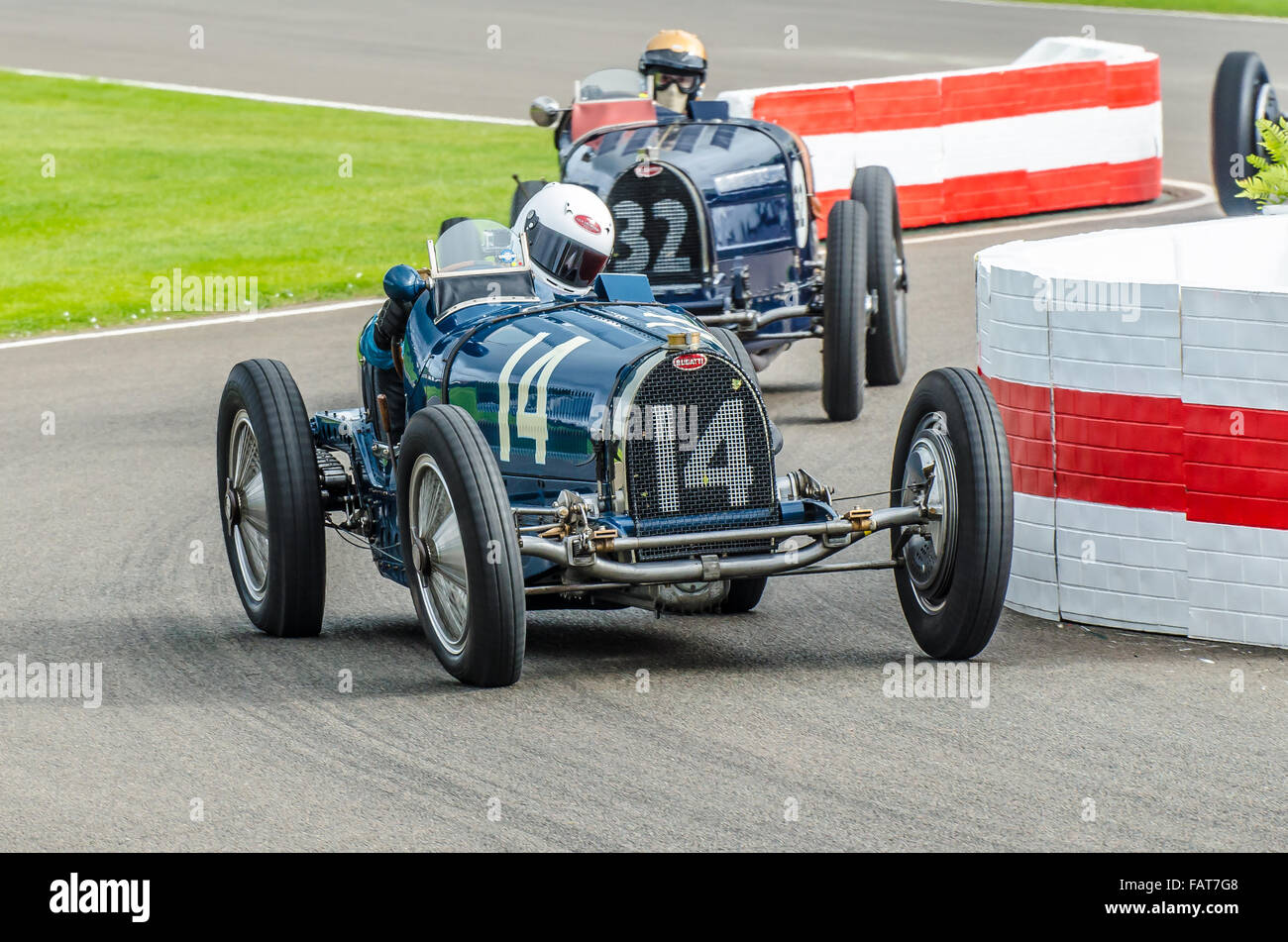 1934 Bugatti Type 59 is owned by Charles McCabe and was driven by Charles Knill-Jones at the Goodwood Revival 2015. - Stock Image