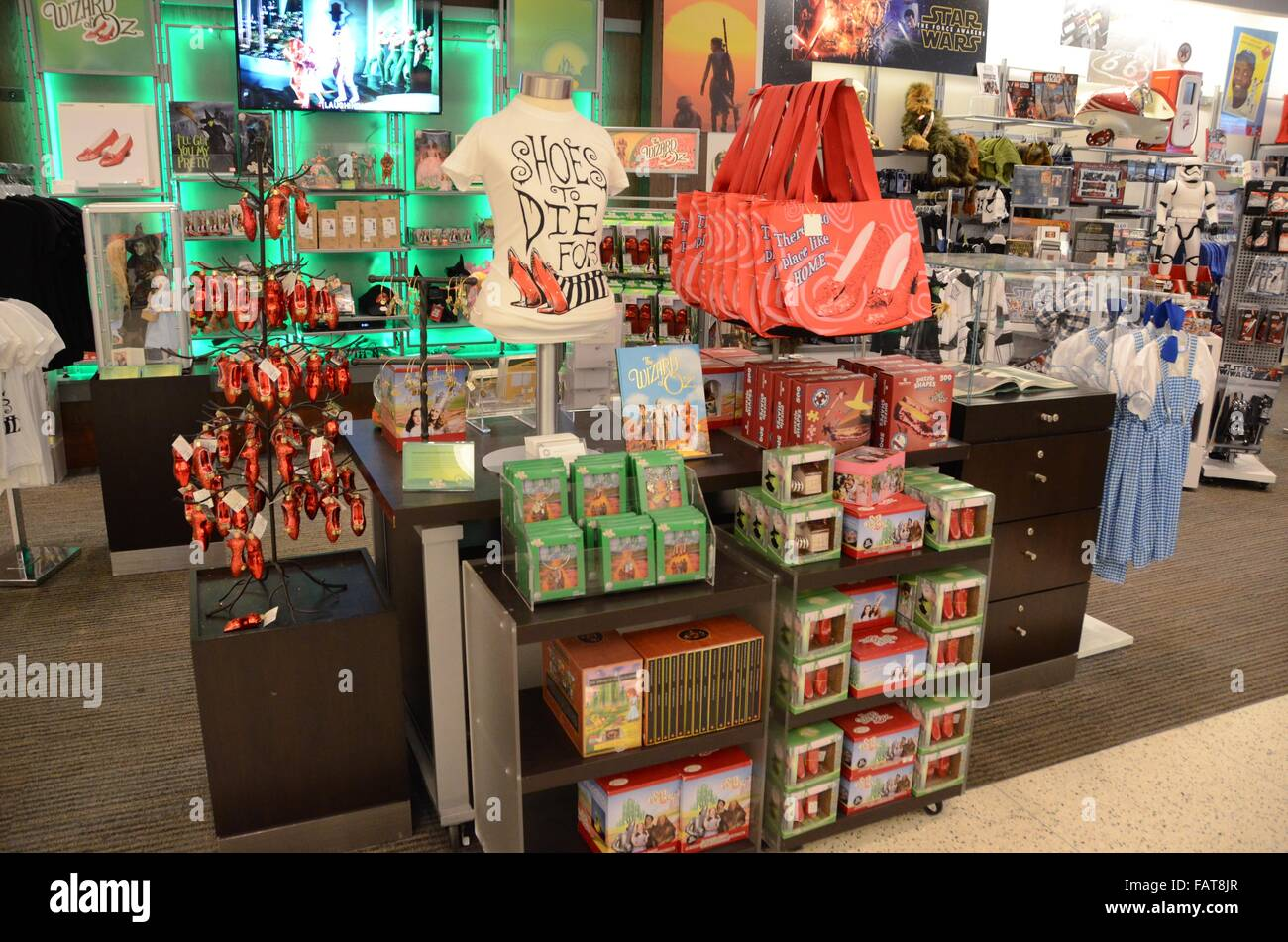 National Museum of American History wizard of oz gift shop display - Stock Image