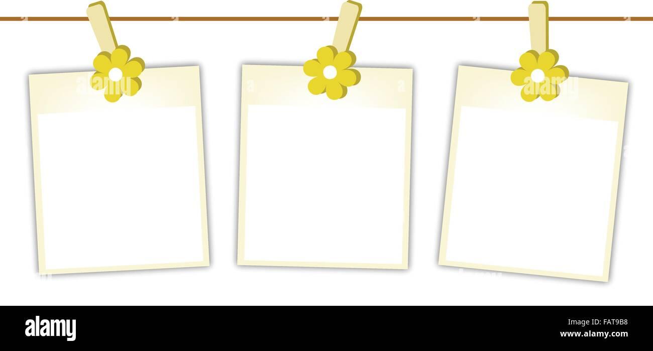Illustration of Three Blank Instant Photo Prints or Polaroid Frames ...