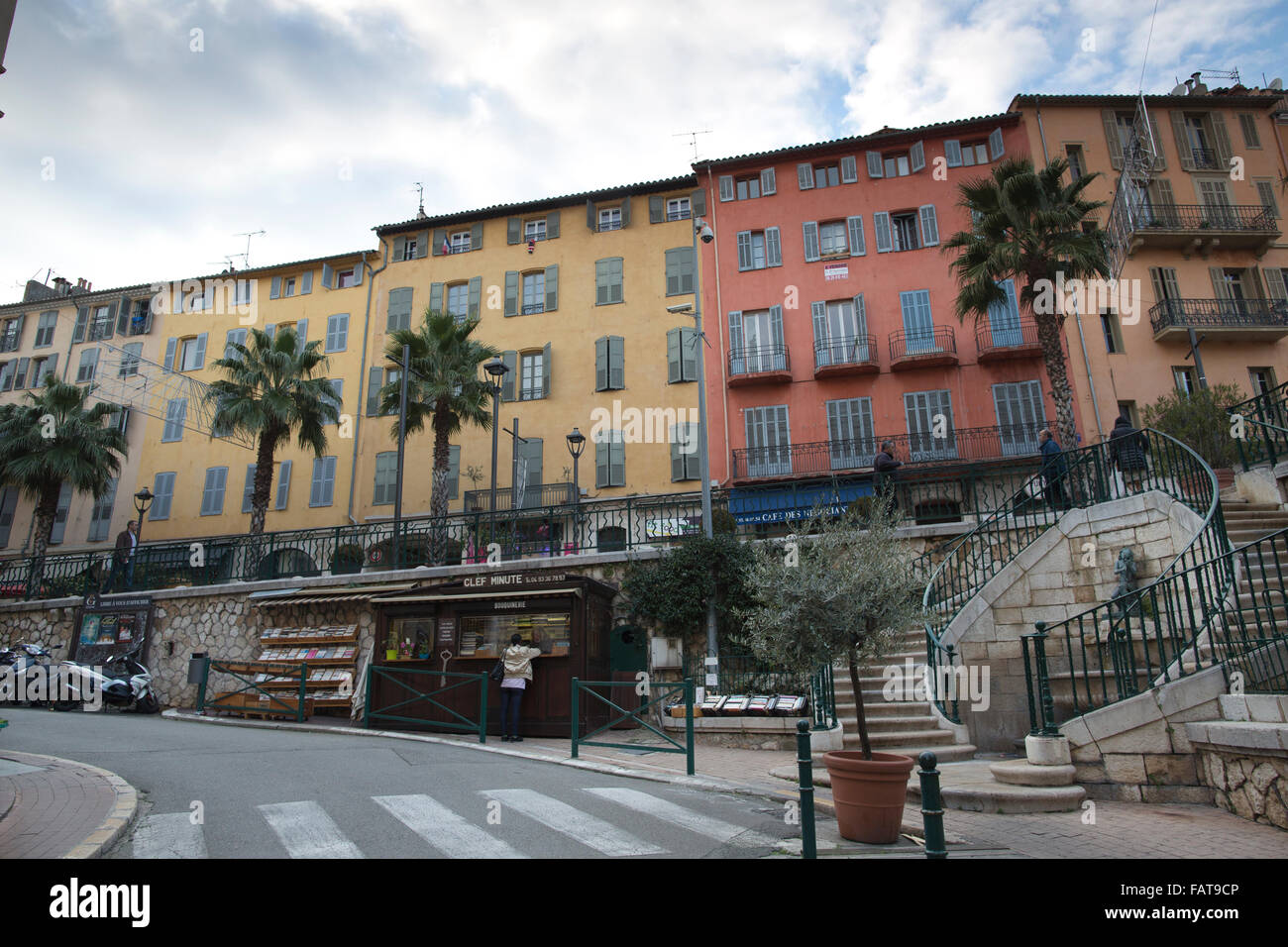 Grasse, 16th century village considered to be perfume capital of the world, Provence-Alpes-Côte d'Azur, - Stock Image