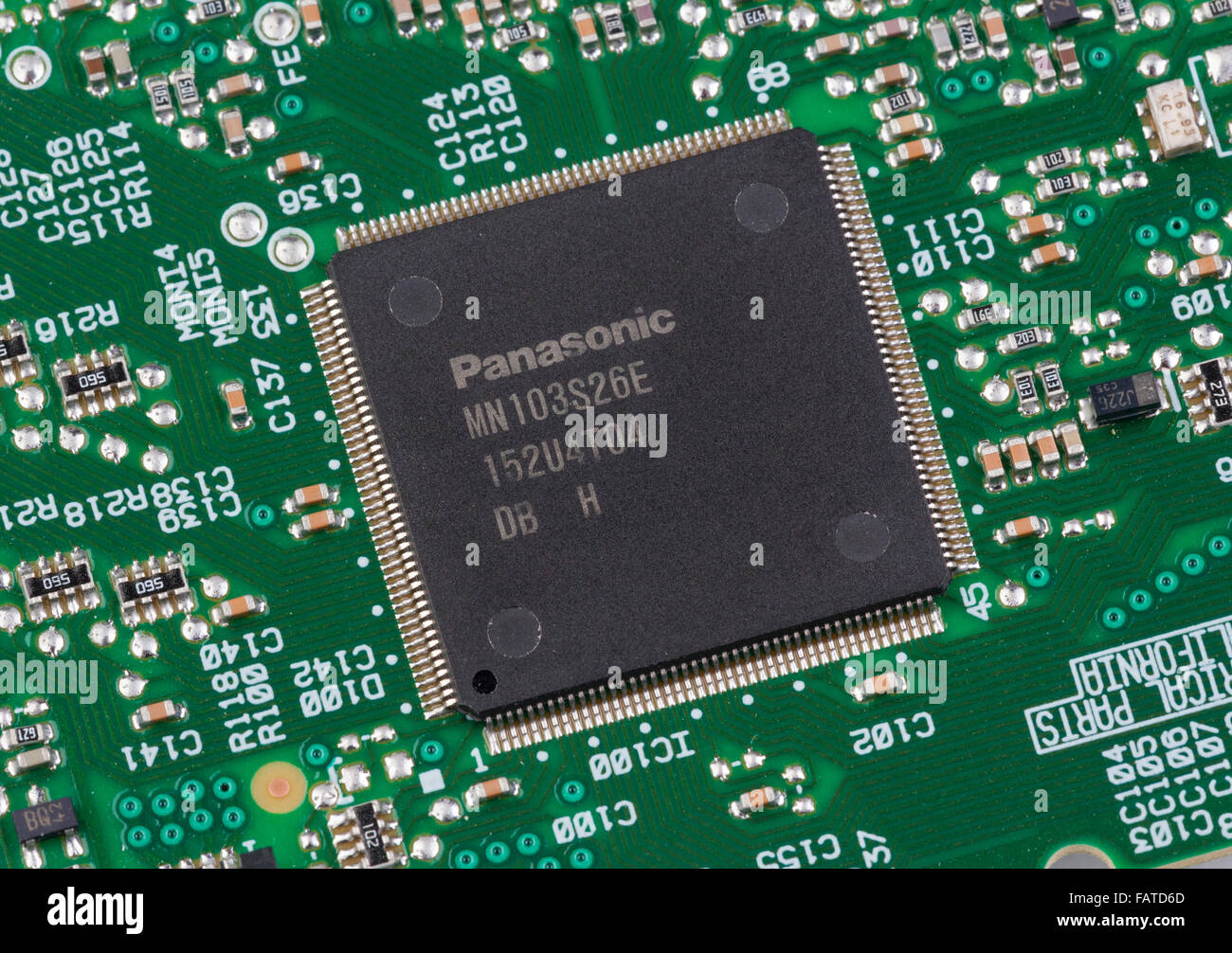 Panasonic chip integrated circuit - Stock Image