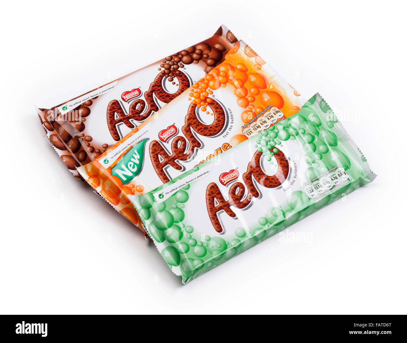 Nestlé Aero chocolate bars - Stock Image
