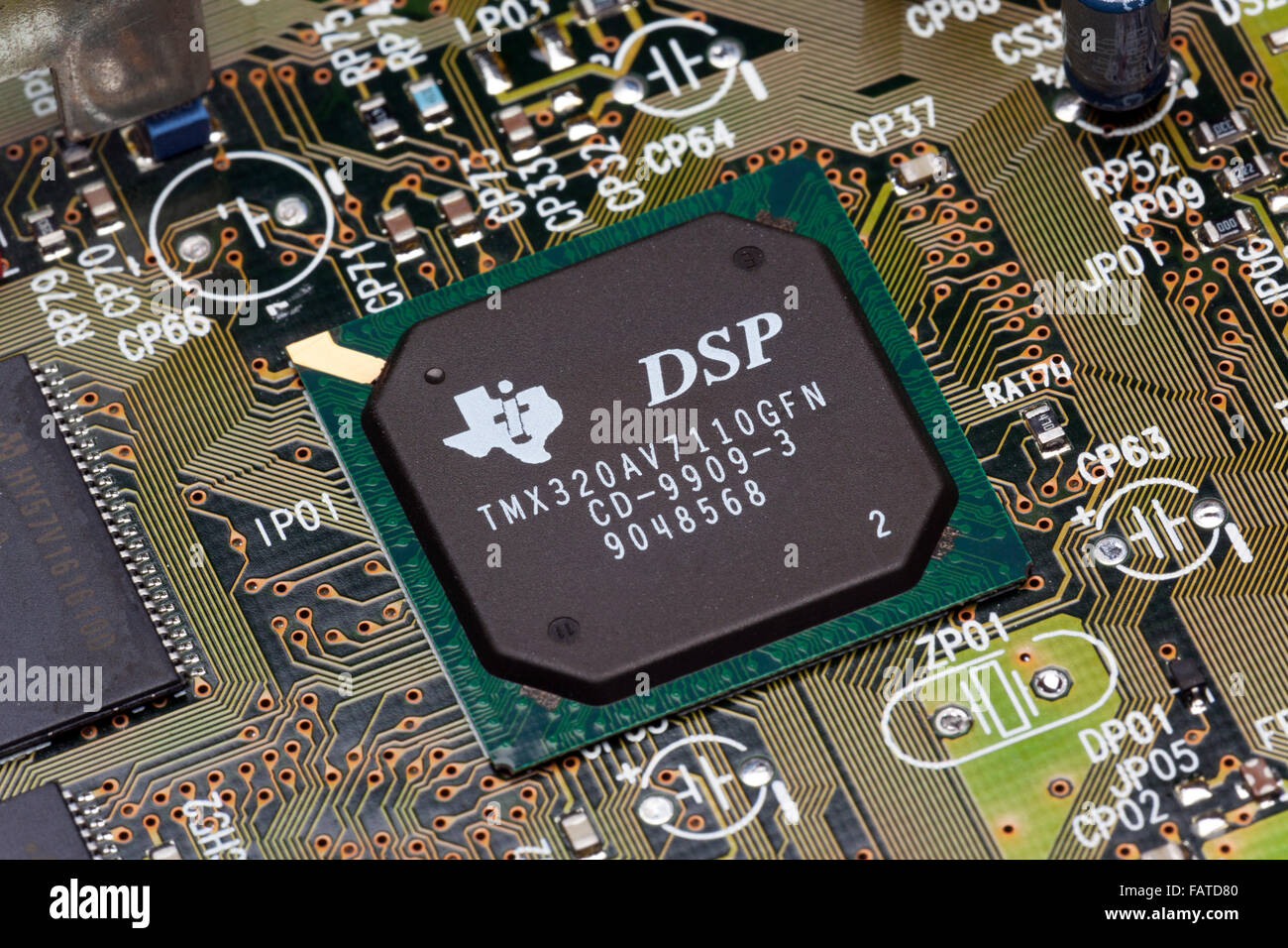 Texas Instruments digital signal processing chip Stock Photo