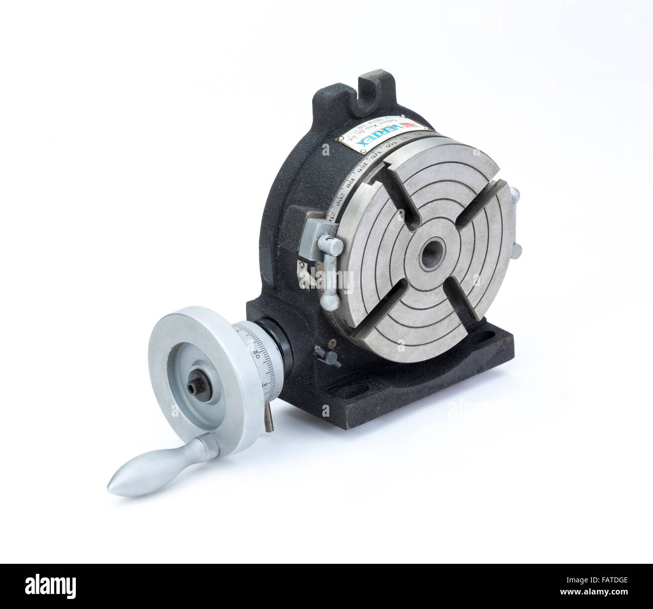 rotary table for machining and engineering applications - Stock Image