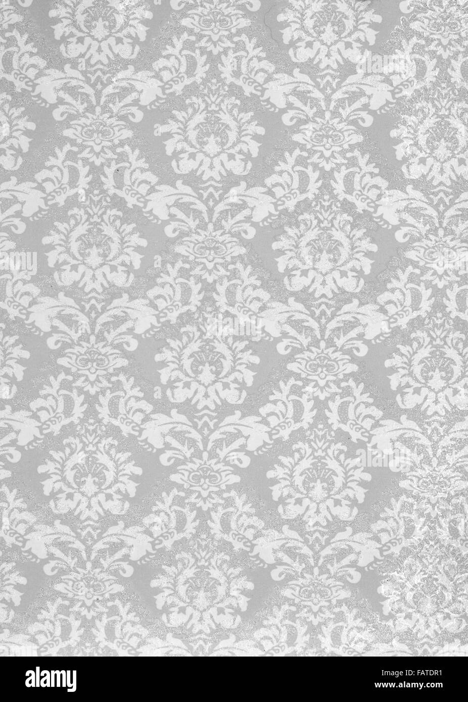 A studio close up of decretive wall paper - Stock Image