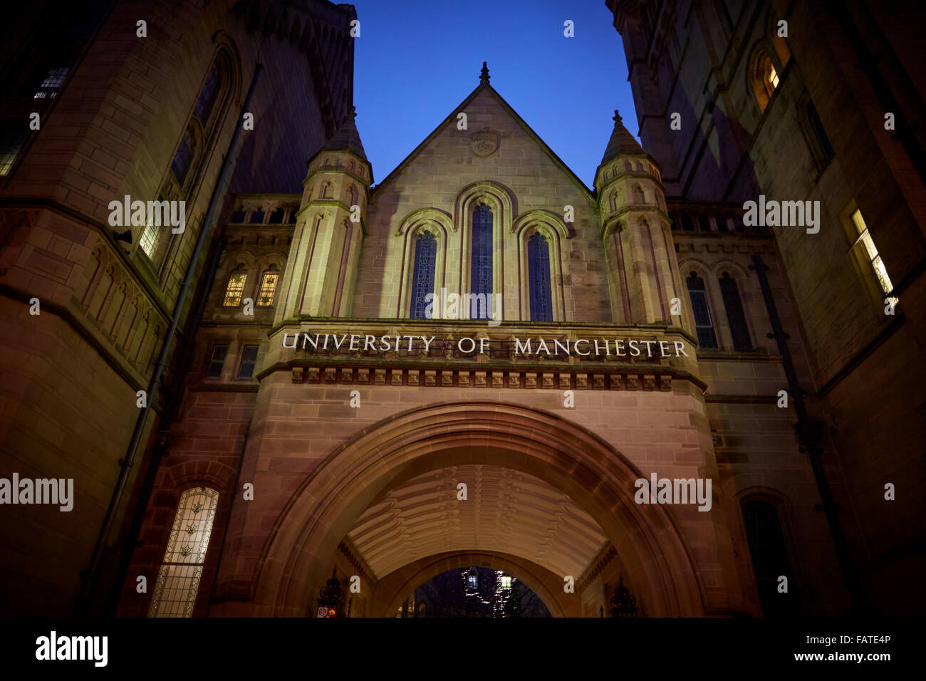 University of Manchester  Exterior  The Old Quadrangle at the University of Manchester's main campus on Oxford - Stock Image