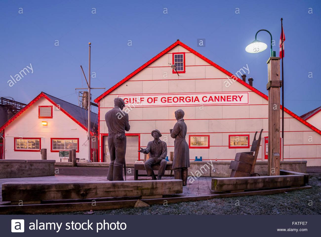 Gulf of Georgia Cannery, Steveston, Richmond, British Columbia, Canada - Stock Image