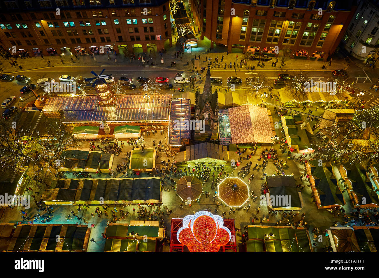 Manchester city centre German style Christmas Markets 2015