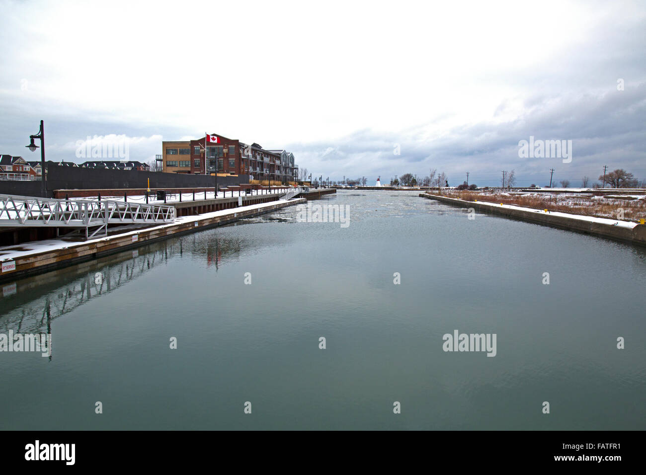 Collingwood harbour, Ontario, Canada Stock Photo
