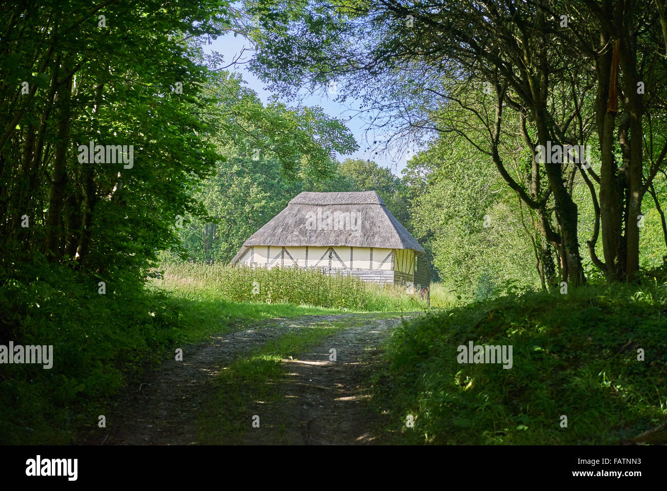 Traditional, historical farm or farmstead building of the High Weald AONB - Stock Image