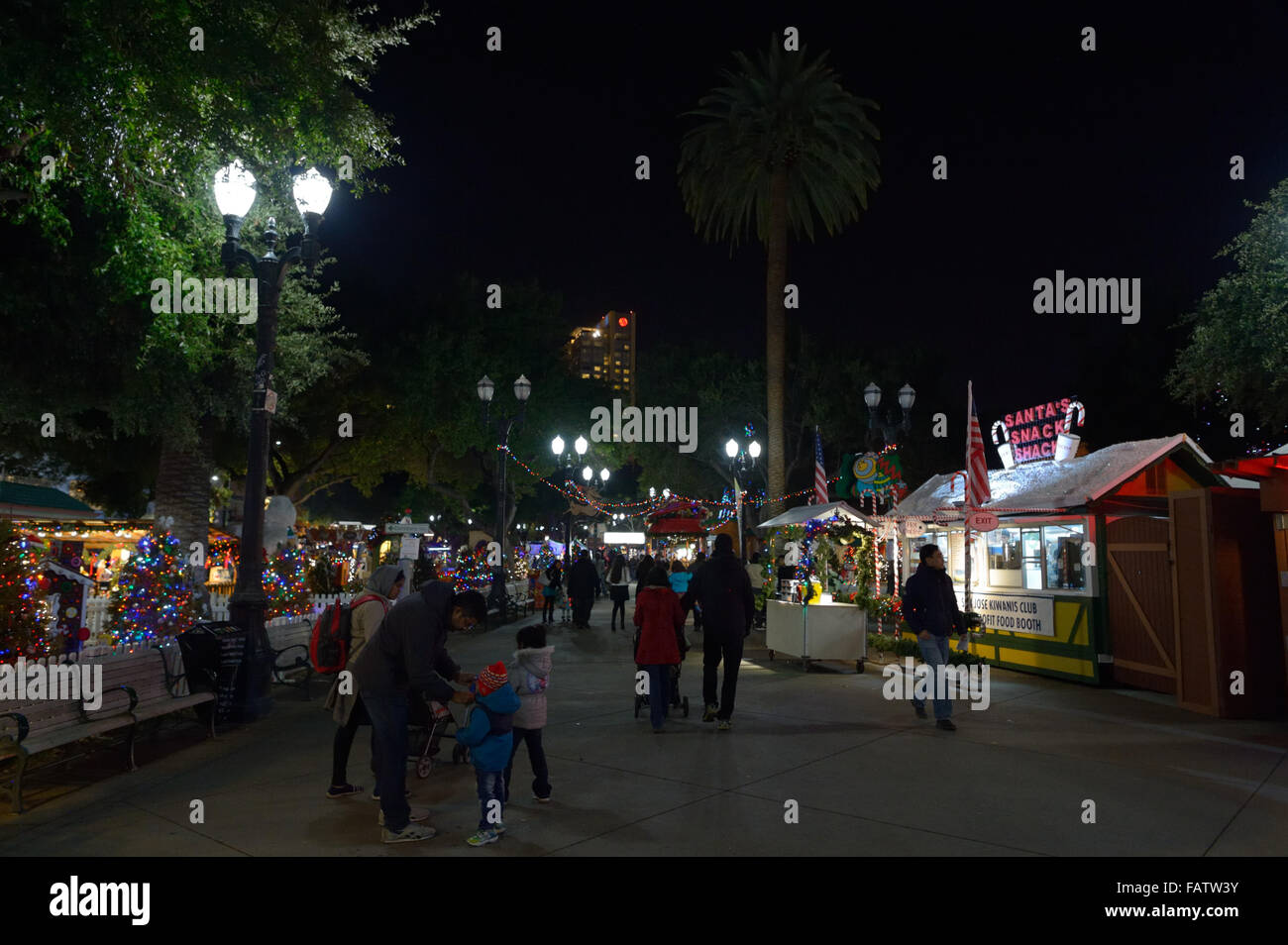 Christmas In The Park San Jose.Christmas In The Park San Jose Ca Stock Photo 92744959 Alamy