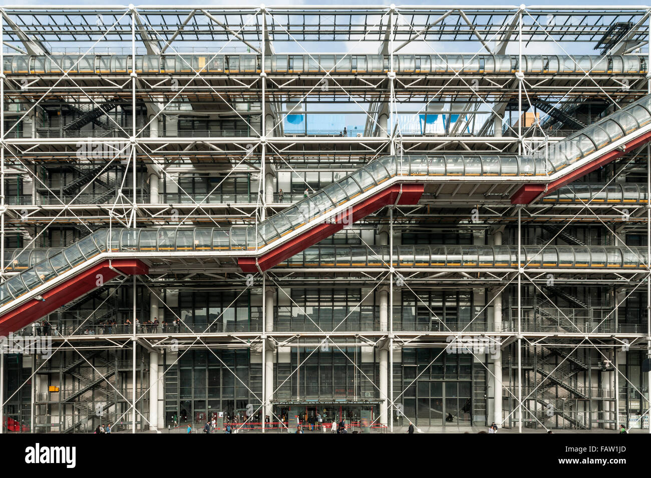 The Centre Georges Pompidou building in central Paris. - Stock Image