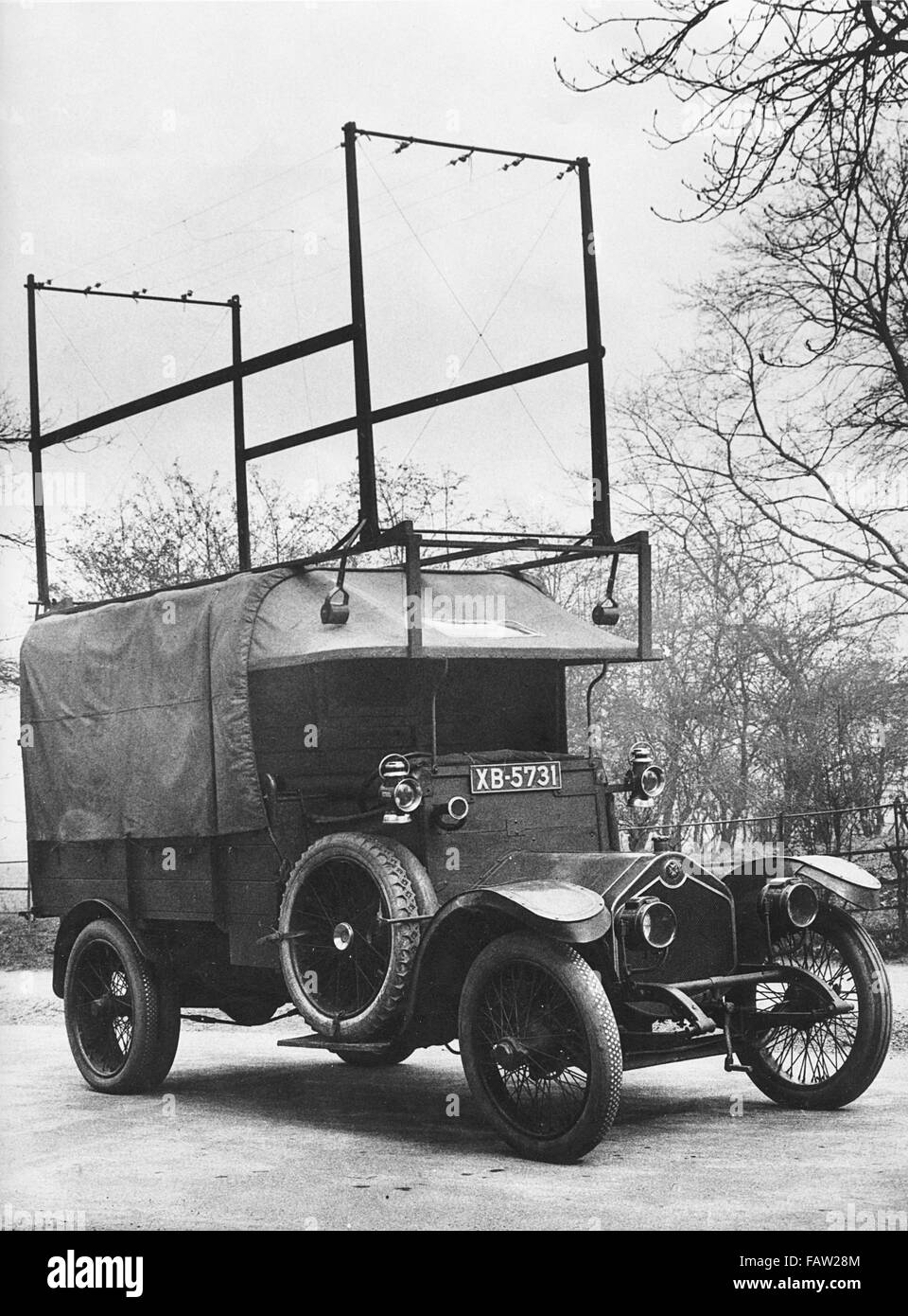 1918 Crossley 25-30hp used by Met Police Flying squad - Stock Image