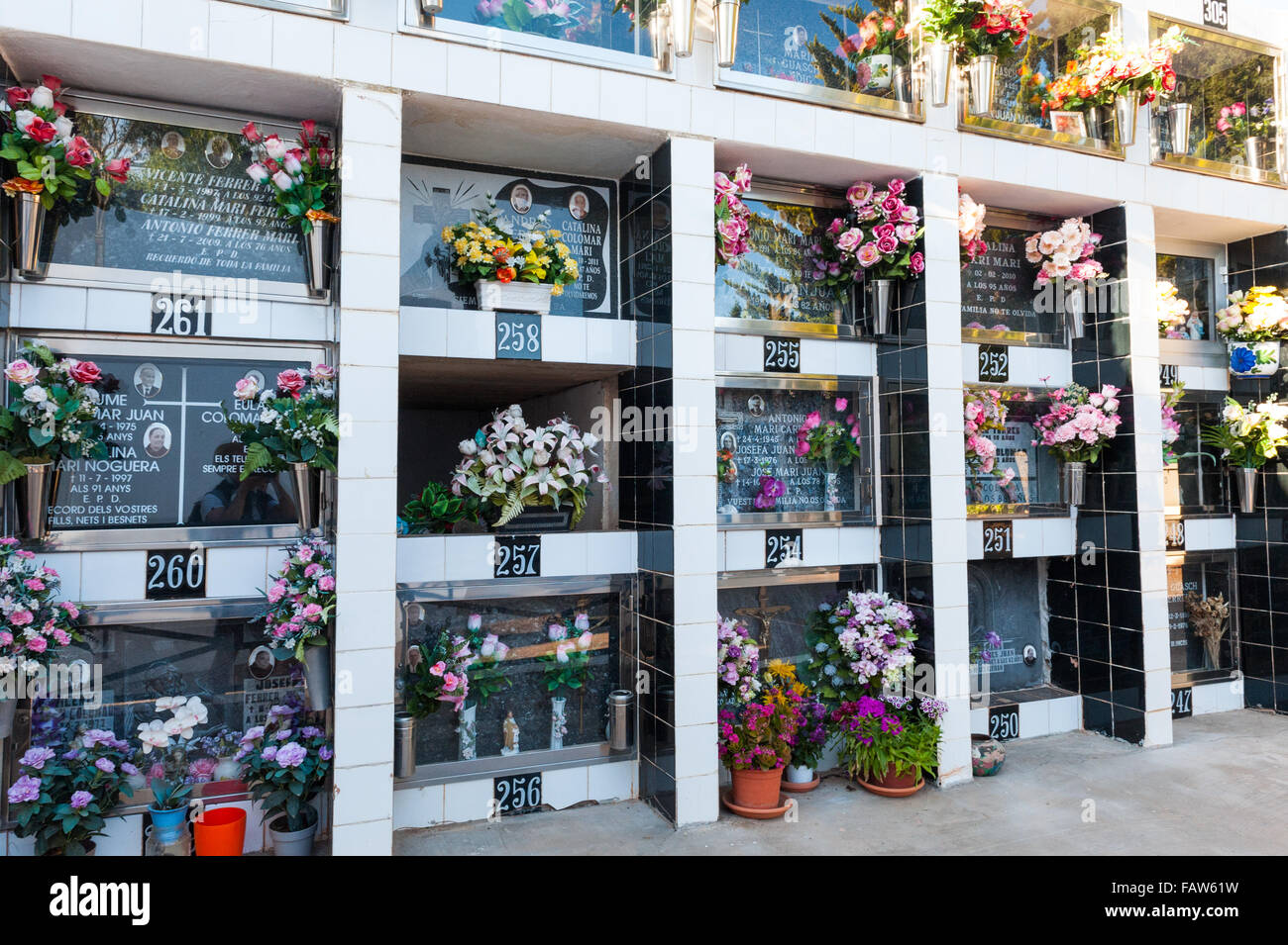 Design Els Ibiza | Graveyard Or Cemetery In Ibiza Spain Europe Stock Photo 92751957