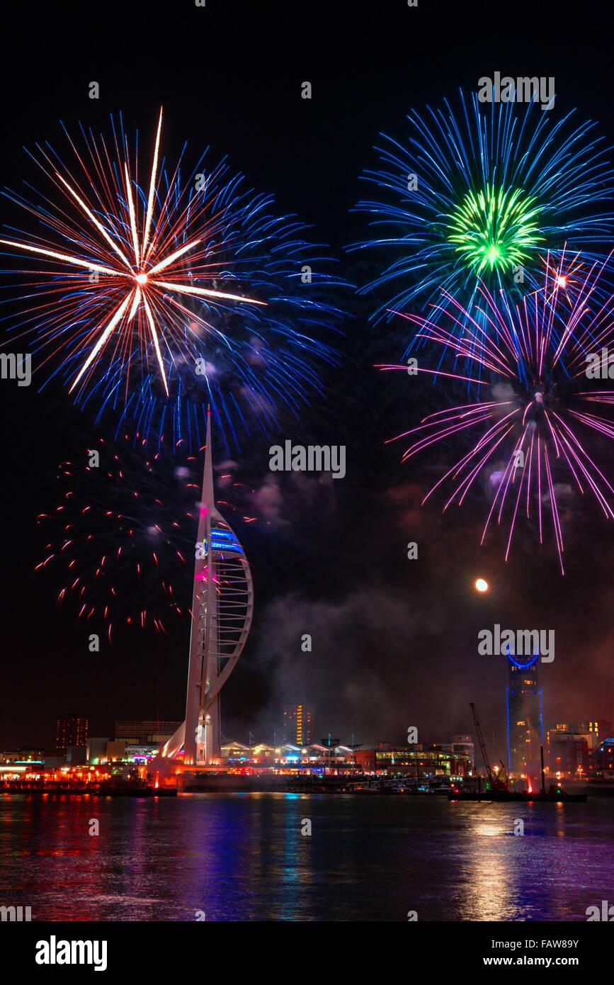 Portsmouth firework Stock Photo