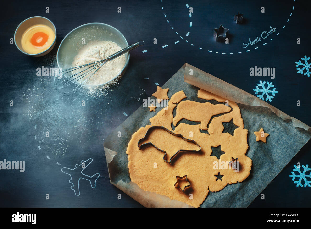 Arctic cookies for Arthur - Stock Image