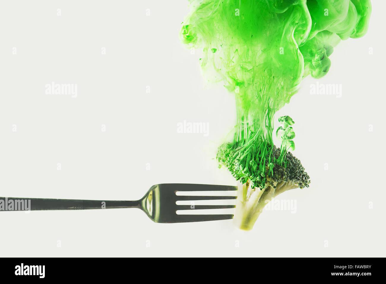 Disintegrated broccoli - Stock Image