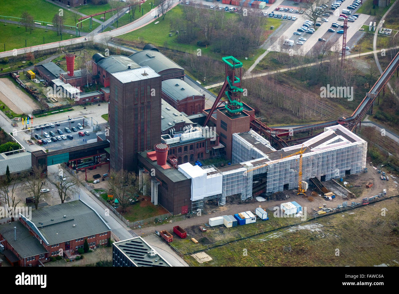 Pact Zollverein, construction Arendahls Wiese, a World Heritage Site Zollverein colliery Essen, North Rhine-Westphalia, - Stock Image