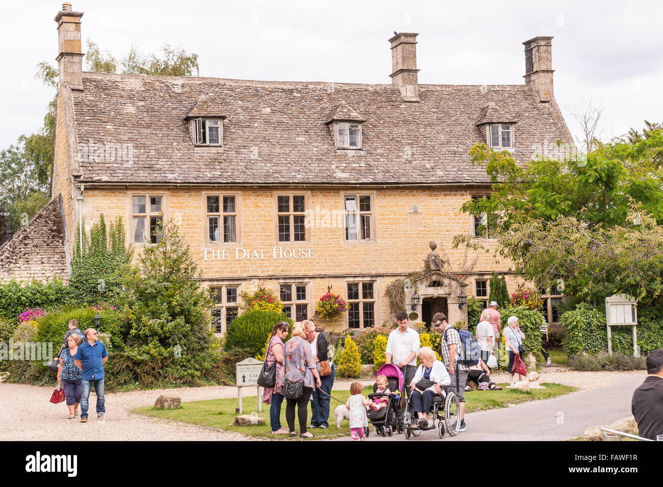 The Dial House Hotel at Bourton-On-The-Water in Gloucestershire , England , Britain , Uk - Stock Image