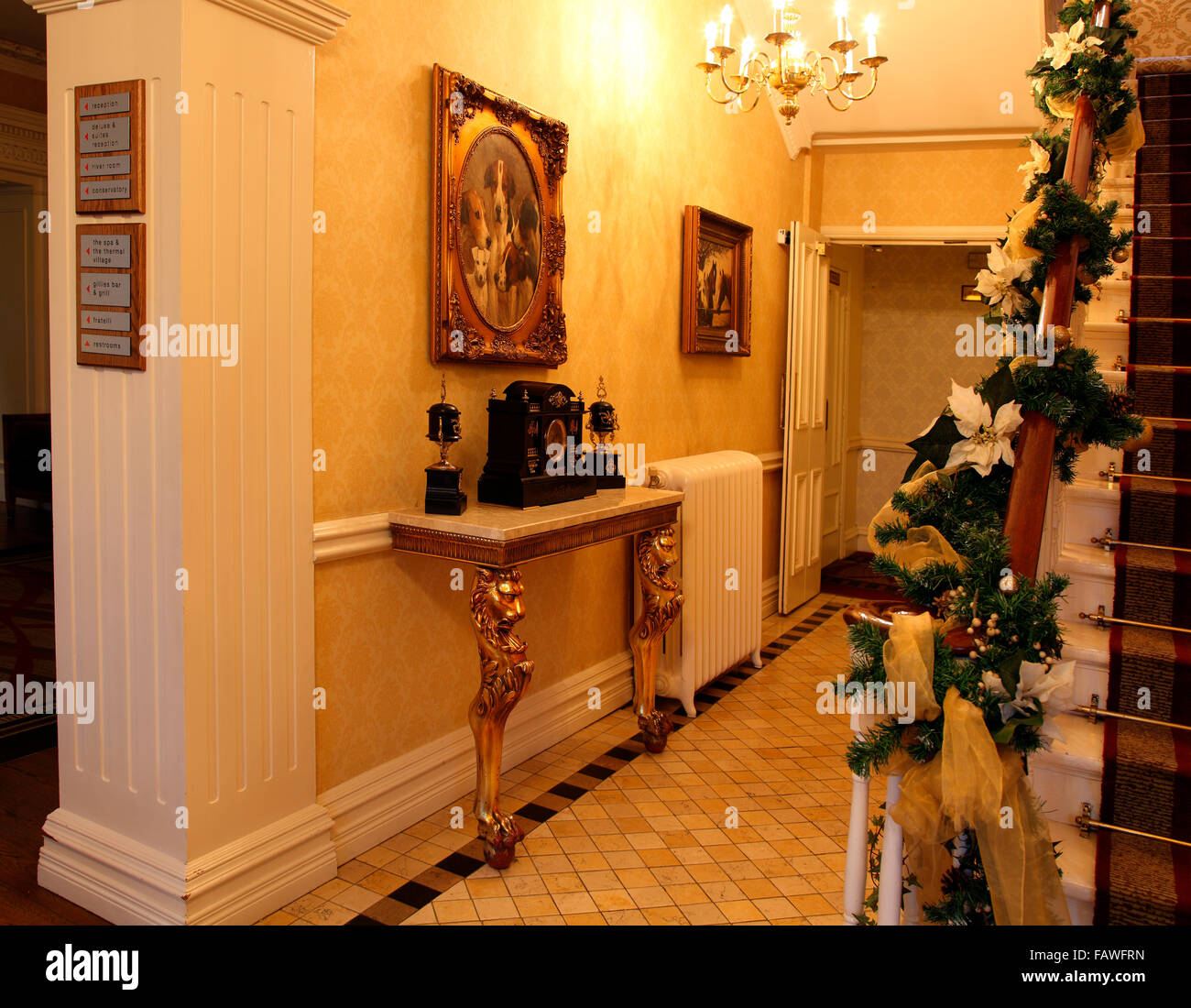 passageway in Galgorm Resort & Spa - Stock Image