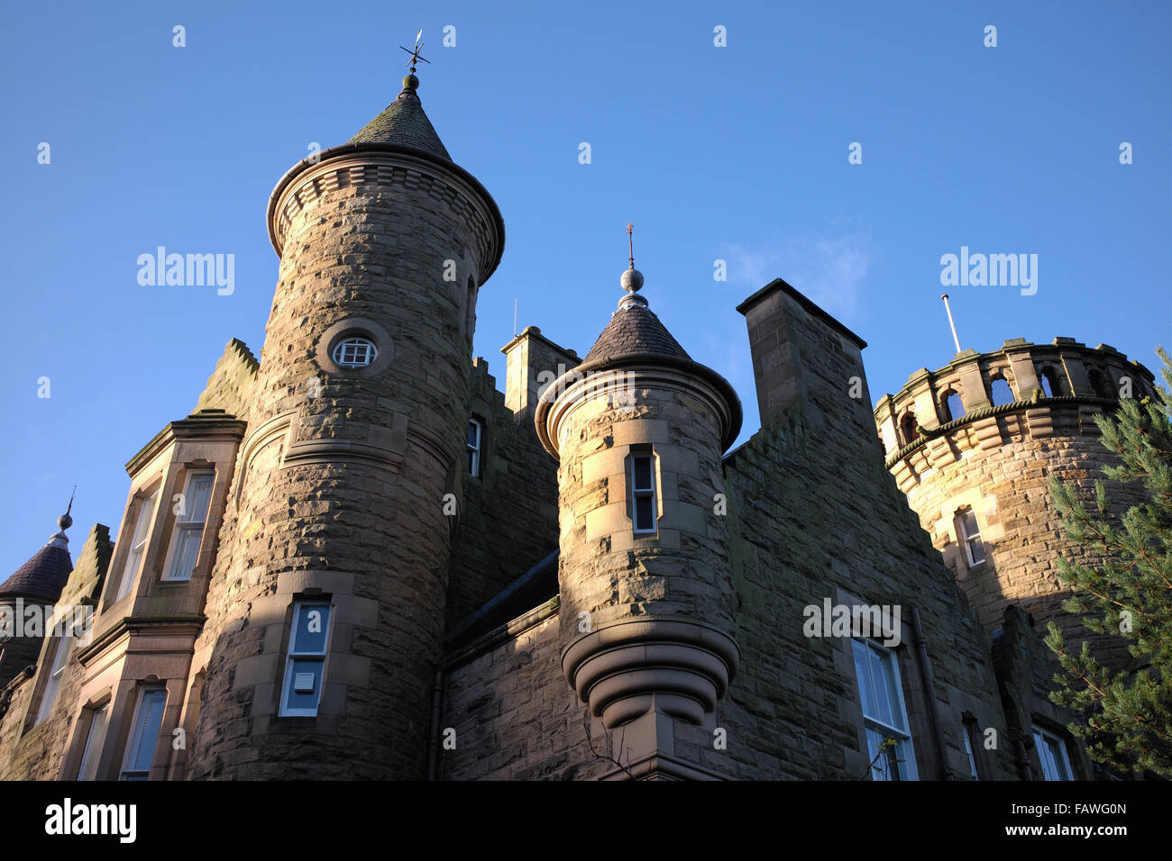 Sheriff Court House. Ettrick Terrace, Selkirk, Scotland - Stock Image