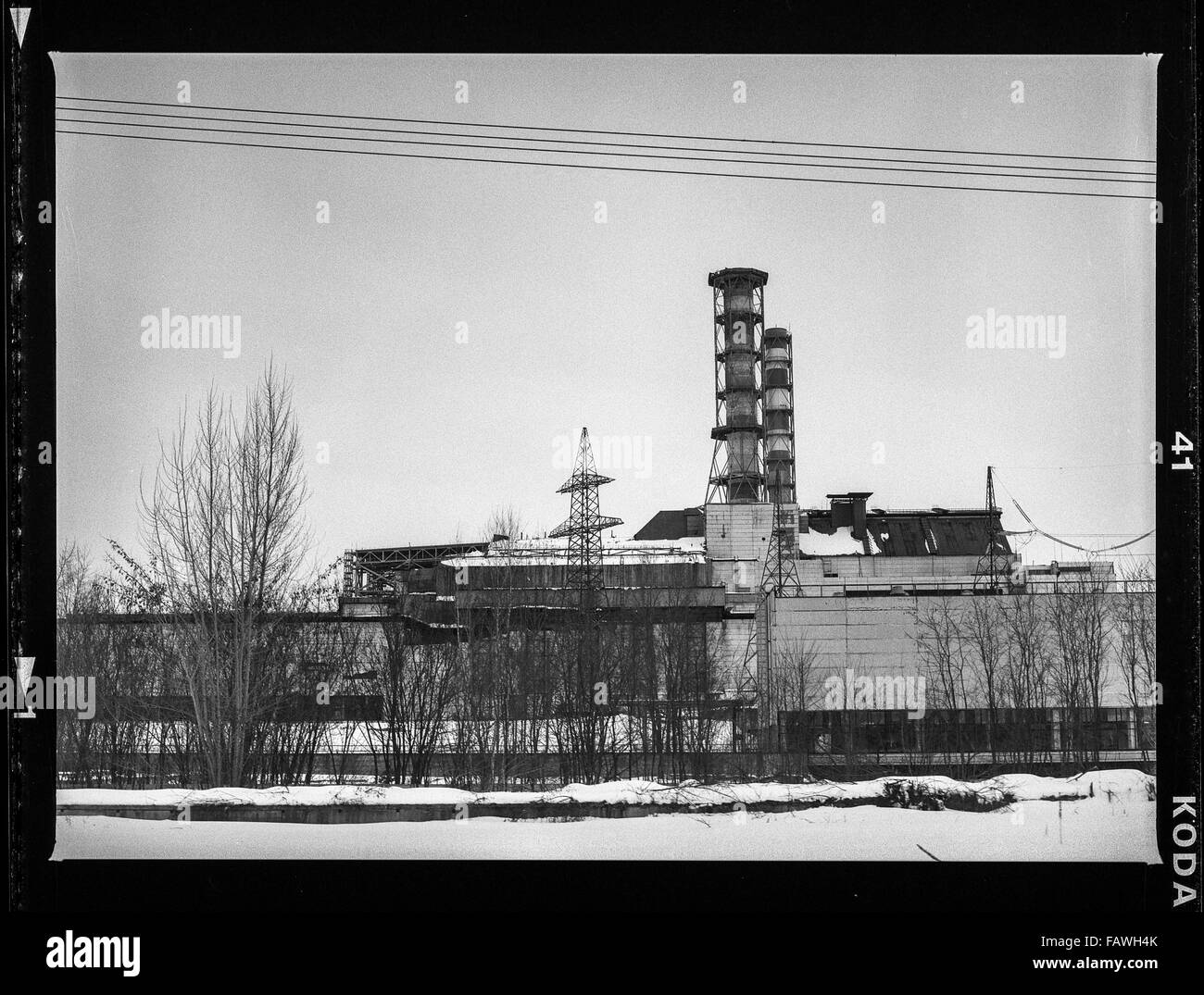 Chernobyl reactor - Impressions from Pripyat, a ghost town in the Ukraine, which was established in 1970 in connection - Stock Image