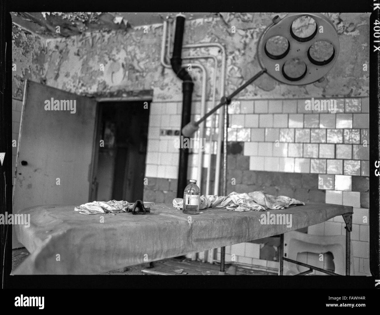 Impressions from Pripyat, a ghost town in the Ukraine, which was established in 1970 in connection with the construction - Stock Image