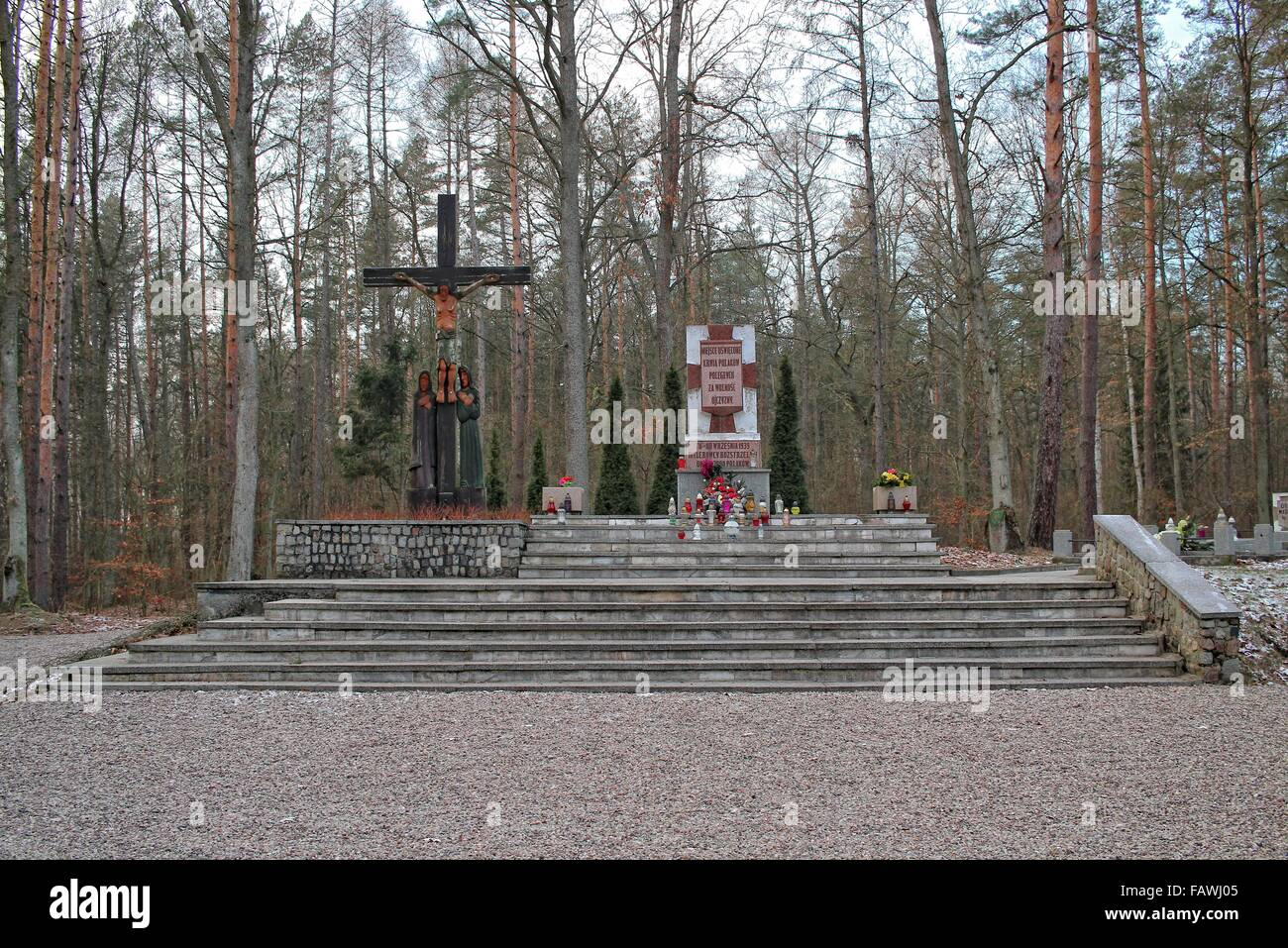 Szpegawsk, Poland 5th, January 2015 In the forest near Szpegawsk, northern Poland (Las Szpegawski) German Nazis Stock Photo