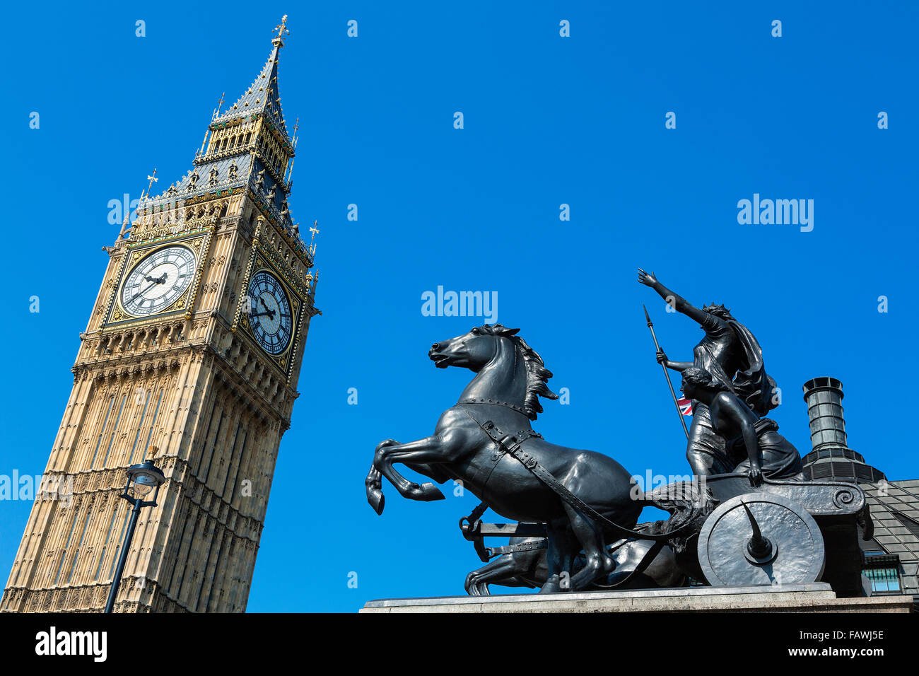 London, Big Ben clock tower - Stock Image